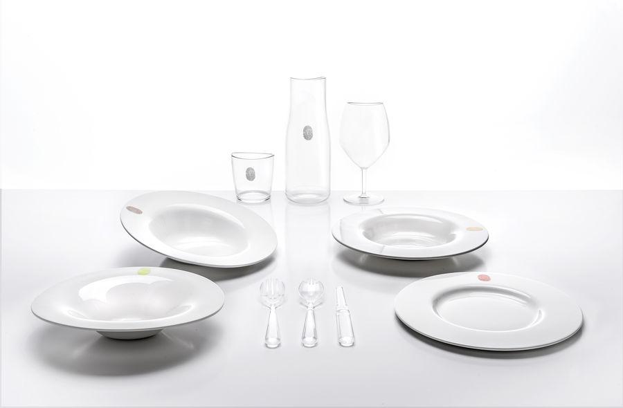Assiette creuse I.D.Ish by D´O Auumn / Inclinée  Kartell Blanc en Matière